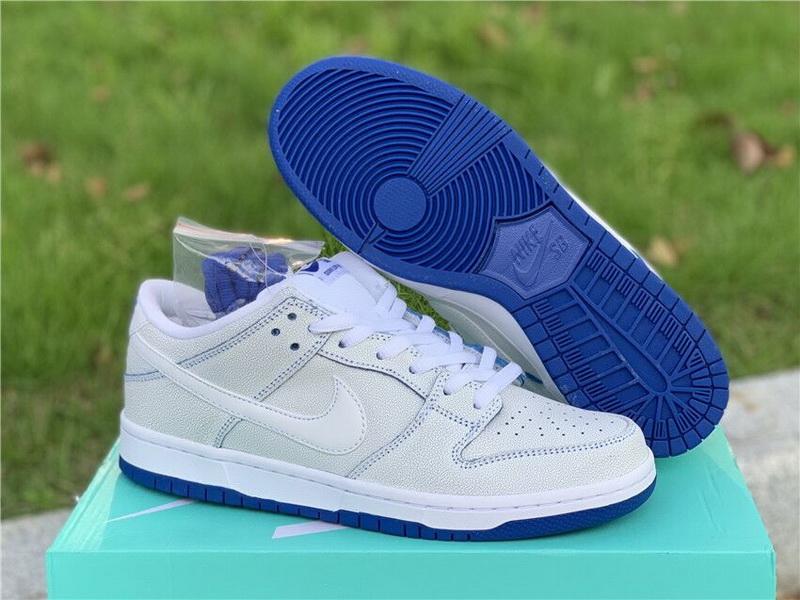 Authentic Nike SB Dunk Low Pro Premium White Game Royal