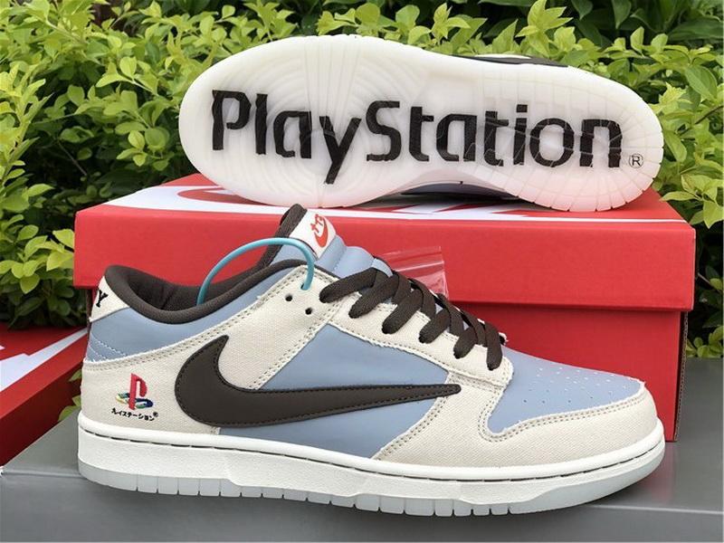 Authentic PlayStation x Travis Scott x Nike Dunk Low