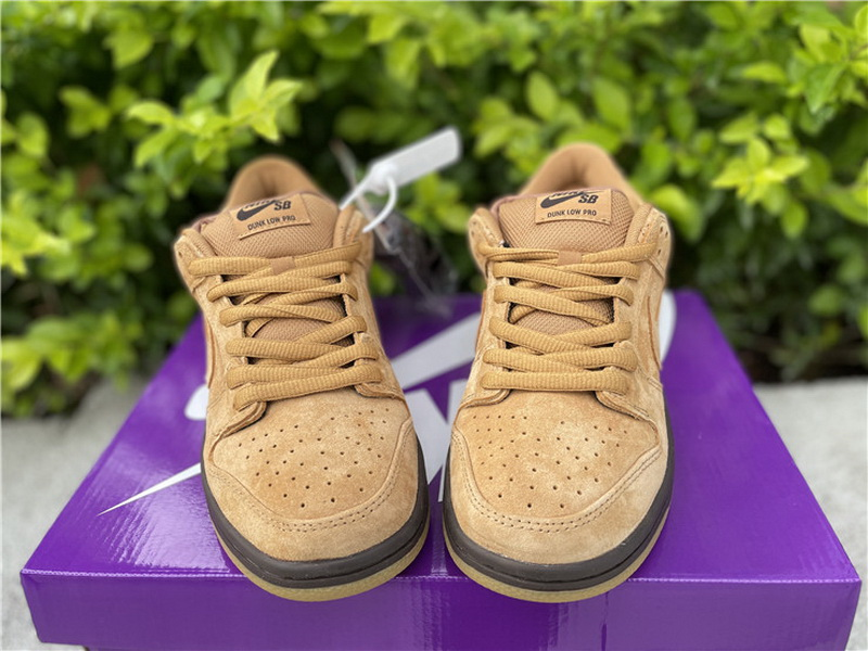 "Authentic Nike SB Dunk Low Pro ""Wheat Mocha"""