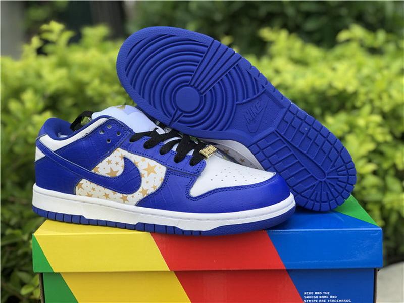Authentic Supreme x Nike SB Dunk Blue White