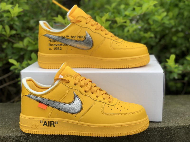 """Authentic Off-White x Nike Air Force 1 Low """"University Gold"""""""