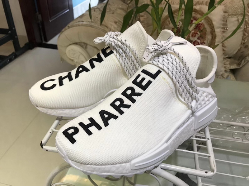 finest selection f26f2 74448 Authentic Chanel x Pharrell x Adidas Originals Hu NMD White ...
