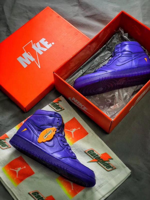 a9f2a48d65c563 Authentic Air Jordan 1 Gatorade Purple Jordan 1 Men