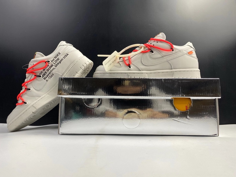 Authentic OFF-WHITE x Nike Dunk Low White