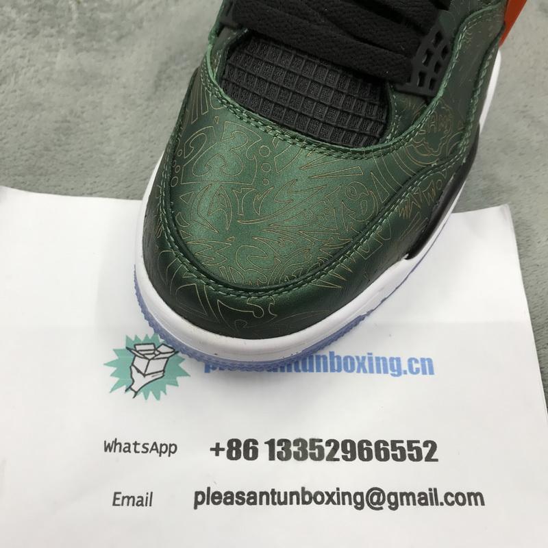 Authentic Air Jordan 4 Lake Green