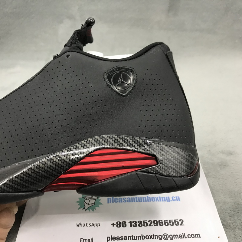 "Authentic Air Jordan 14 SE ""Black Fer ra ri"""